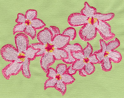 "Embroidery Design: Heavenly Hibiscus Group 26.01"" x 4.78"""