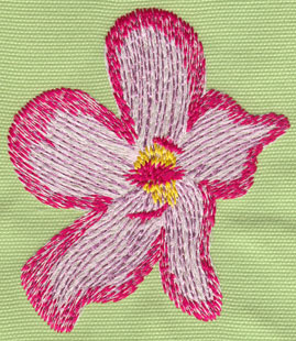 "Embroidery Design: Heavenly Hibiscus Single3.55"" x 4.16"""