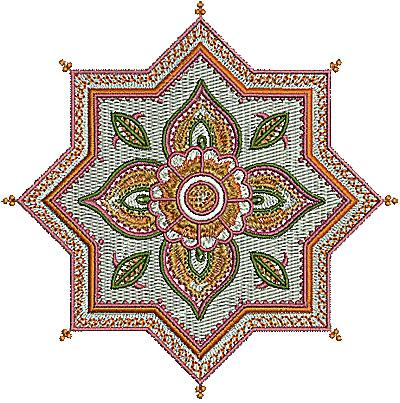Embroidery Design: Henna design 1 5.00w X 5.00h