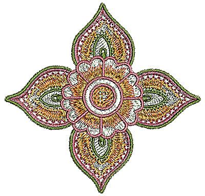Embroidery Design: Henna design 4 3.14w X 3.05h