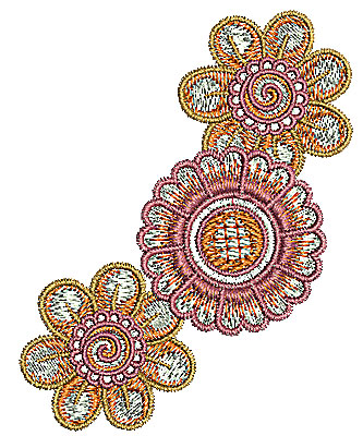 Embroidery Design: Henna design flower 2 2.48w X 3.14h