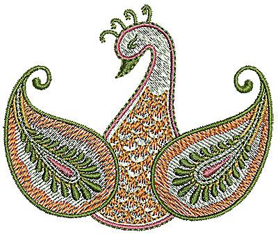 Embroidery Design: Henna bird 1 3.17w X 2.65h
