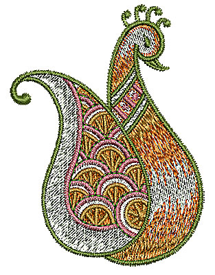 Embroidery Design: Henna bird 6 2.15w X 2.90h