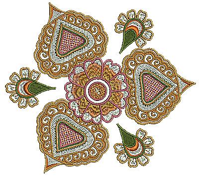 Embroidery Design: Henna flower 6 5.51w X 4.93h