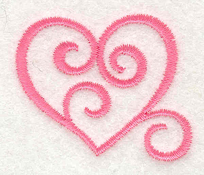 Embroidery Design: Swirly Heart1.73w X 1.46h