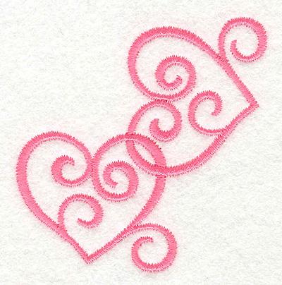 Embroidery Design: Swirly Heart Corner2.59w X 2.74h