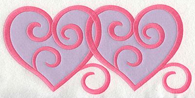 Embroidery Design: Swirly Hearts 3 applique10.00w X 4.8h