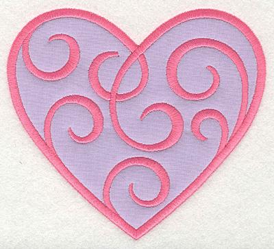 Embroidery Design: Swirly Heart 1 applique5.5w X 5.00h