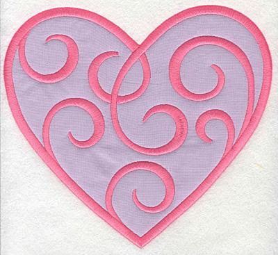 Embroidery Design: Swirly Heart 2 applique8.30w X 7.50h