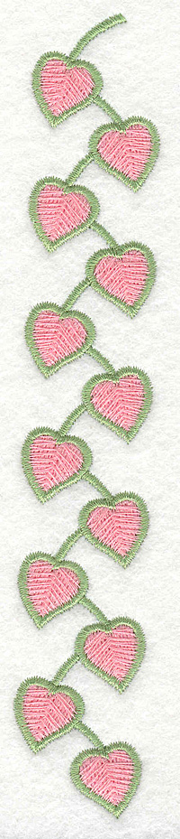 Embroidery Design: Heart Vine Large1.11w X 6.99h