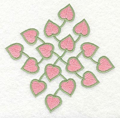 Embroidery Design: Heart Vine Diamond3.89w X 3.89h