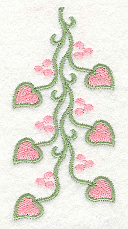 Embroidery Design: Heart Vine with Berries Short1.85w X 3.88h
