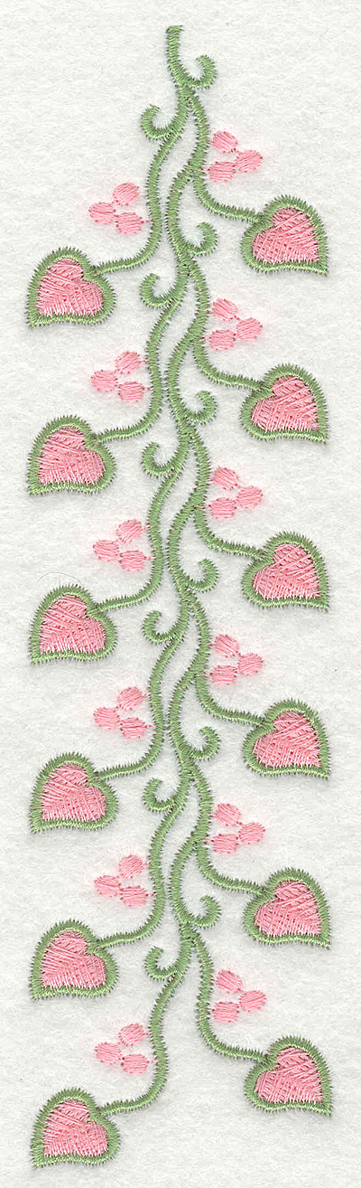 Embroidery Design: Heart Vine with Berries Long1.85w X 7.03h