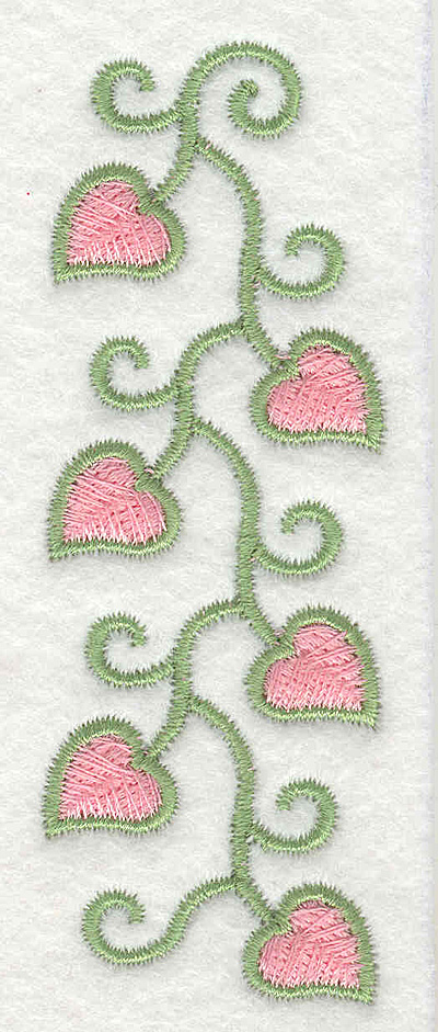 Embroidery Design: Fancy Heart Vine Short<br>1.36w X 3.87h