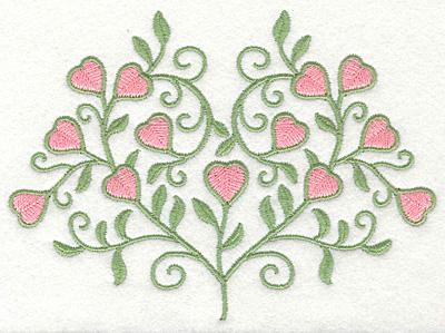 Embroidery Design: Fancy Heart Vine Plant6.46w X 4.66h