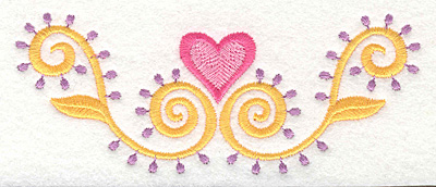 Embroidery Design: Heart Motif 2 Large5.00w X 2.00h