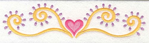 Embroidery Design: Heart Motif 3 Large6.65w X 1.62h