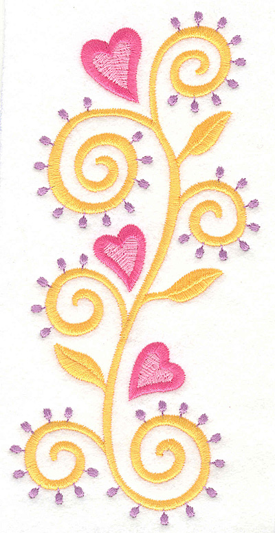 Embroidery Design: Heart Motif 4 Large3.28w X 7.00h