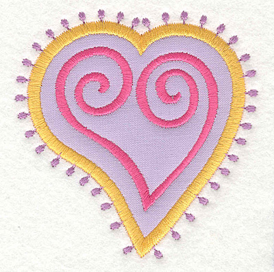 Embroidery Design: Heart Motif Small applique3.37w X 3.50h