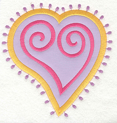 Embroidery Design: Heart Motif Large applique<br>4.82w X 5.00h