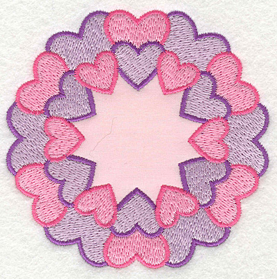 Embroidery Design: Circle of Hearts applique3.59w X 3.66h
