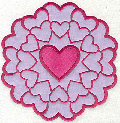 Embroidery Design: Heart Circle Large applique7.29w X 7.53h