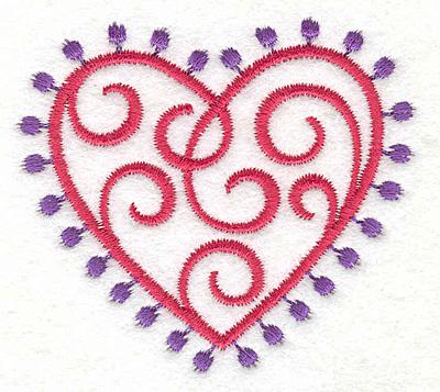 Embroidery Design: Fashion Heart2.59w X 2.30h