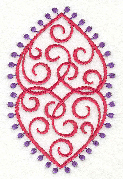 Embroidery Design: Fashion Hearts Duplicate2.59w X 3.98h