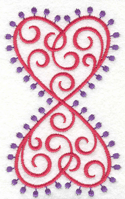 Embroidery Design: Fashion Hearts Double2.59w X 4.24h