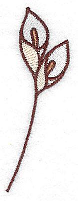 Embroidery Design: Calla Lily 1.29w X 3.78h