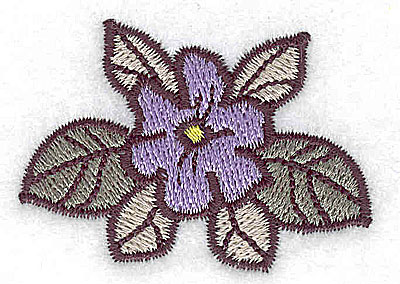 Embroidery Design: Blossom with leaves 2.02w X 1.41h