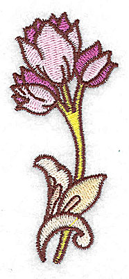 Embroidery Design: Tulips 1.44w X 3.35h