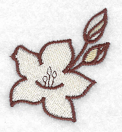Embroidery Design: Lily with buds 1.84w X 2.14h