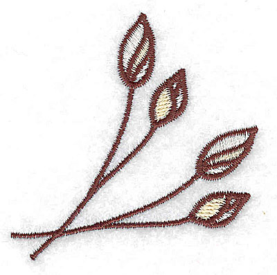 Embroidery Design: Floral buds 2.35w X 2.46h