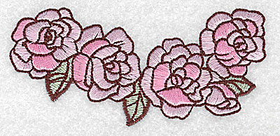 Embroidery Design: Roses 3.81w X 1.76h