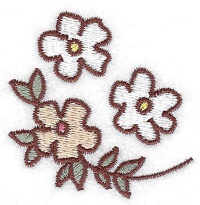 Embroidery Design: Blossom trio 2.23w X 2.24h