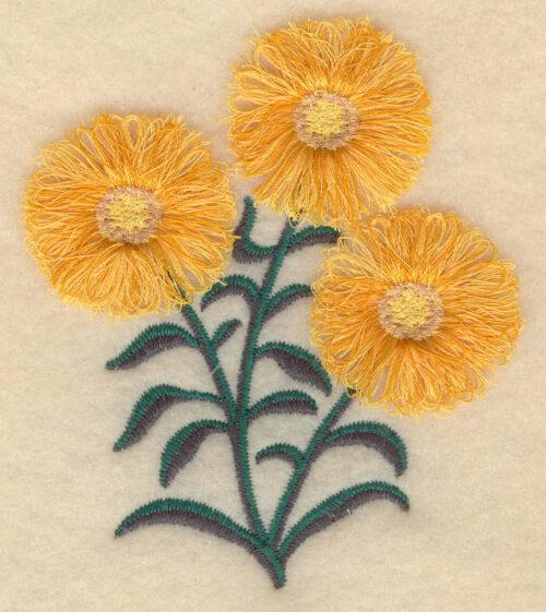 Embroidery Design: Rosinweed fringe3.23w X 3.87h