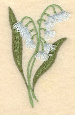 Embroidery Design: Lily of the Valley fringe2.27w X 3.88h