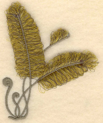 Embroidery Design: Fern fringe3.13w X 3.89h