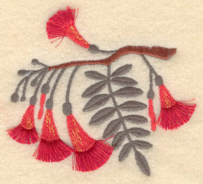 Embroidery Design: Yellow Gum fringe3.74w X 3.42h