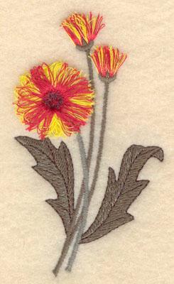 Embroidery Design: Flower B fringe2.20w X 3.82h