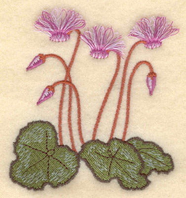 Embroidery Design: Cyclamen fringe3.41w X 3.75h