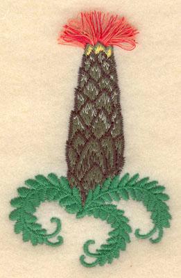 Embroidery Design: Flowering Cactus 2 fringe2.44w X 3.71h