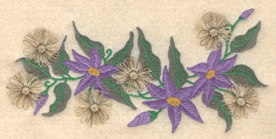 Embroidery Design: Clematis fringe6.96w X 3.29h