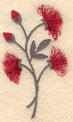 Embroidery Design: Flower C fringe2.10w X 3.81h