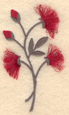 Embroidery Design: Flower C fringe2.10w X 3.81h