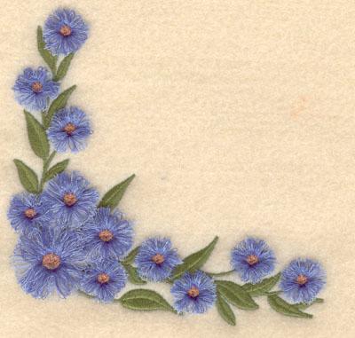 Embroidery Design: Floral corner fringe5.35w X 5.00h
