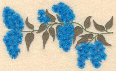 Embroidery Design: Wisteria / Lilac fringe6.99w X 4.08h