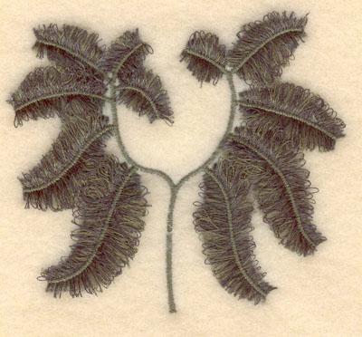 Embroidery Design: Maidenheair Fern fringe3.85w X 3.42h