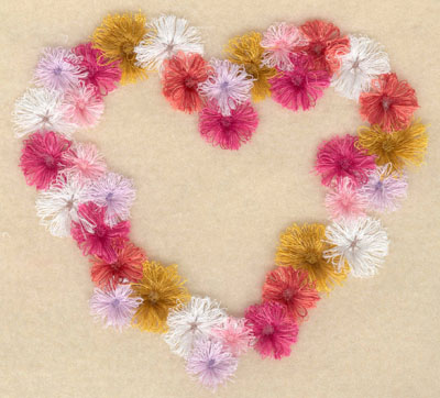 Embroidery Design: Floral Heart fringe5.47w X 5.00h